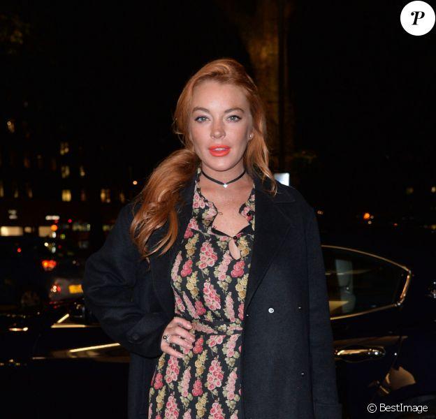 Lindsay Lohan à l'exposition de Mert Alas & Marcus Piggott à Londres, le 27 octobre 2016