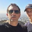 Noé Elmaleh sur Instagram avec son père, Gad.