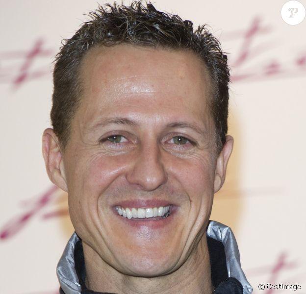 Michael Schumacher en conférence de presse à Munich le 6 fevrier 2012.