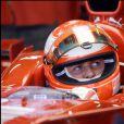 Michael Schumacher essaie la nouvelle Ferrari le 13 novembre 2007 à Barcelone.