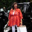 Karen Houghton se rend à la babyshower de Kim Kardashian organisée à Los Angeles le 2 juin 2013.