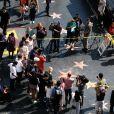 L'étoile de Donald Trump restaurée après avoir été vandalisée sur le Hollywood Walk of Fame à Los Angeles, le 26 octobre 2016.