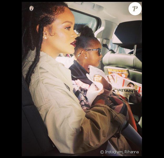 Rihanna toujours aussi gaga de sa nièce Majesty, sur Instagram le 6 novembre 2016.