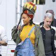 Rihanna sur le tournage de  Ocean 8  à New York le 4 novembre 2016.