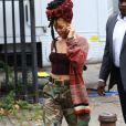 Rihanna sur le tournage de  Ocean 8  à New York le 3 novembre 2016.