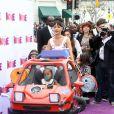 Rihanna et sa nièce Majesty à la première de  Home  à Los Angeles le 22 mars 2015.