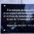 Illustration lors de l'hommage aux victimes des attentats du 13 novembre 2015 devant le Stade de France à Saint-Denis, le 13 novembre 2016. Une plaque en hommage à la victime Manuel Dias a été dévoilée.