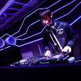 Un DJ à l'oeuvre lors de l'événement Ghost In The Shell à Tokyo, le 13 novembre 2016