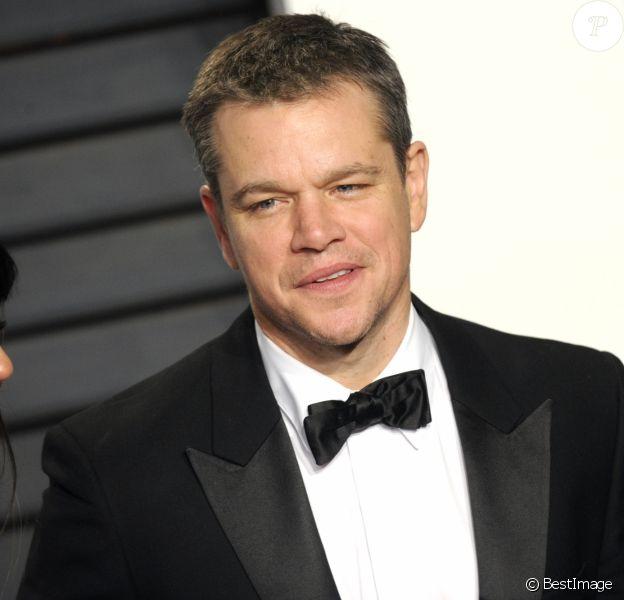 """Matt Damon - People à la soirée """"Vanity Fair Oscar Party"""" après la 88e cérémonie des Oscars à Hollywood, le 28 février 2016."""