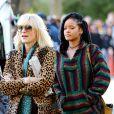 Sandra Bullock, Rihanna et Cate Blanchett sur le tournage de 'Ocean's Eight' à New York, le 7 novembre 2016