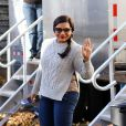"Mindy Kaling sur le tournage du film ""Ocean's Eight"" dans le quartier de Brooklyn à New York City, New York, Etats-Unis, le 10 novembre 2016."