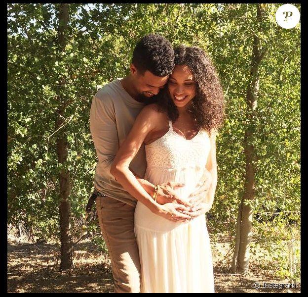 Jurnee Bell et son mari dévoilent la grossesse de madame sur Instagram. Juin 2016