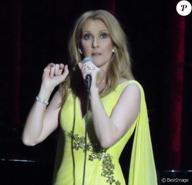 Céline Dion au Caesars Palace à Las Vegas le 23 février 2016.