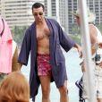 """Jon Hamm est sur le tournage de la serie """"Mad Men"""" à Maui, Hawaii.  Le 24 octobre 2012"""