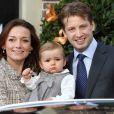 Le prince Floris et la princesse Aimee avec leur fille Magali