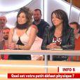Capucine Anav s'exprime sur ses complexes dans  Il en pense quoi Camille ? , sur C8, le vendredi 18 novembre 2016.