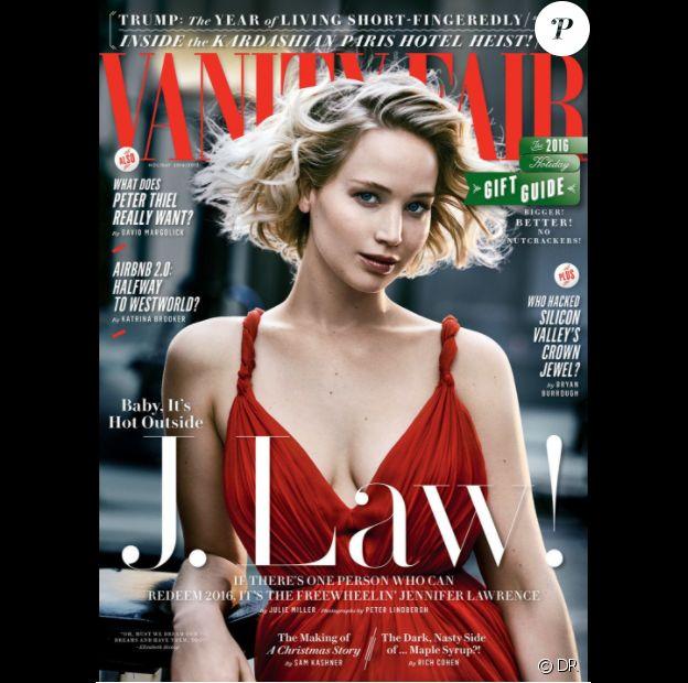 Jennifer Lawrence en couverture de Vanity Fair - édition américaine, décembre 2016