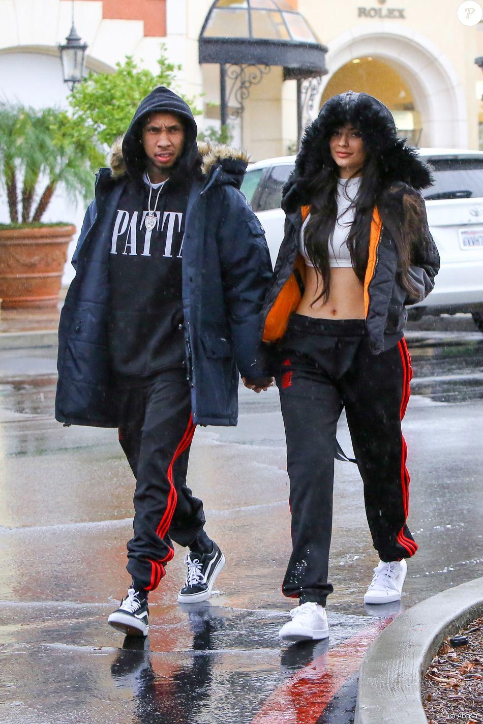 Tyga Et Calabasas Kylie JennerHabillés Joggings Adidasadidas De J1KlcTF