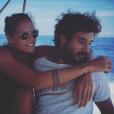Laure Manaudou et Jérémy Frérot en mer - Photo publiée le 23 octobre 2015.