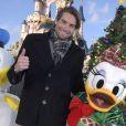 Camille Lacourt - People au Noël de Disneyland Paris. Le 9 novembre 2016 © Disneyland Paris