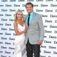 """28 ans d'écart : David Hasselhoff et sa compagne Hayley Roberts pour la présentation à la presse de l'émission """"Hoff the record"""" à Londres le 20 mai 2015"""