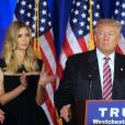 Ivanka Trump, Melania Trump - Donald Trump s'adresse à ses supporters et aux médias pendant un meeting à Briarcliff Manor, le 7 juin 2016. © Agence/Bestimage