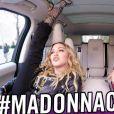 Madonna survoltée lors de son passage dans l'émission Carpool Karaoke de James Corden. Vidéo publiée sur Youtube le 7 décembre 2016