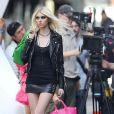 Taylor Momsen sur le tournage d'un clip a New York, le 9 avril 2013.