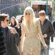 Taylor Momsen se rend sur le tournage de Gossip Girl a New York. Le 16 octobre 2012