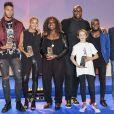 Estelle Mossely et son compagnon Tony Yoka, Emilie Andéol et Teddy Riner - Soirée des Champions à l'INSEP à Paris le 7 décembre 2016.