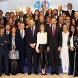 La reine Letizia et le roi Felipe VI d'Espagne célébraient le 12 décembre 2016 le 40e anniversaire du groupe de presse Zeta à Madrid.