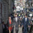 La reine Letizia et le roi Felipe VI d'Espagne visitaient le palais Bolsa à Porto, le 29 novembre 2016, lors de leur visite d'Etat au Portugal.