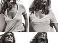 PHOTOS : Eva Mendes, un T-shirt blanc décolleté et... c'est tout !