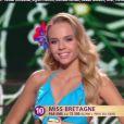 Miss Bretagne 2016 : Maurane Bouazza -  Les 12 demi-finalistes défilent en bikini.   Concours Miss France 2017. Sur TF1, le 17 décembre 2016.
