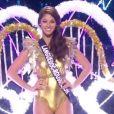 Miss Languedoc-Roussillon   : Aurore Kichenin -   Les cinq finalistes défilent en tenue de fée de Noël.   Concours Miss France 2017. Sur TF1, le 17 décembre 2016.