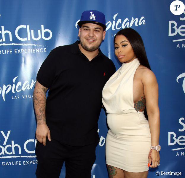 Rob Kardashian et sa fiancée Blac Chyna à Las Vegas, le 28 mai 2016.
