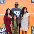 Kobe Bryant, Vanessa Laine Bryant et leurs filles Natalia Diamante et Gianna Maria-Onore aux Kids' Choice Sports Awards, à Los Angeles, le 14 juillet 2016.