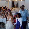 Kobe Bryant, sa femme Vanessa Laine et leurs filles Natalia Diamante et Gianna Maria-Onore en vacances à Mykonos le 24 juin 2014.