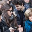 Charlotte Messica, l'arrière petite-fille de Michèle Morgan, et Danièle Thompson - Sorties des obsèques de Michèle Morgan en l'église Saint-Pierre de Neuilly-sur-Seine. Le 23 décembre 2016