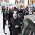 Paul Roussel, le frère de Michèle Morgan - Sorties des obsèques de Michèle Morgan en l'église Saint-Pierre de Neuilly-sur-Seine. Le 23 décembre 2016