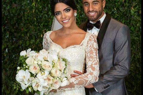 Lucas : La star du PSG a épousé sa belle Larissa au Brésil