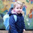 """"""" Le prince George de Cambridge photographiée par sa mère la duchesse Catherine de Cambridge le jour de sa rentrée à l'école Montessori de Westacre, dans le Norfolk, le 6 janvier 2016. © Duchess of Cambridge via Bestimage """""""