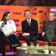 Michael Fassbender, Marion Cotillard, James McAvoy et Frank Skinnerlors de l'enregistrement de l'émission The Graham Norton Show à Londres le 8 décembre 2016