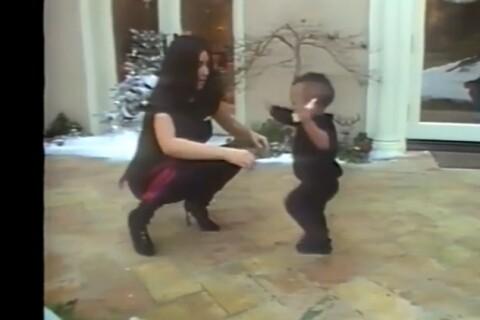 Kim Kardashian et Kanye West en vidéo : Complices et intimes avec North et Saint