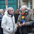 Claude Lelouch lors de la cérémonie religieuse en hommage à Pierre Barouh au cimetière de Montmartre à Paris le 4 janvier 2017.