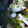 Anouk Aimée lors de la cérémonie religieuse en hommage à Pierre Barouh au cimetière de Montmartre à Paris le 4 janvier 2017.