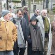 Dominique Besnehard lors de la cérémonie religieuse en hommage à Pierre Barouh au cimetière de Montmartre à Paris le 4 janvier 2017.