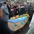 Cérémonie religieuse en hommage à Pierre Barouh au cimetière de Montmartre à Paris le 4 janvier 2017.