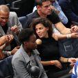 """""""Noura El Shwekh, la compagne de Jo-Wilfried Tsonga, enceinte de leur premier enfant, était présente le 2 novembre 2016 à l'AccorHotels Arena à Paris pour assister à sa qualification pour les 8e de finale du BNP Paribas Masters 1000 aux dépens de l'Espagnol Ramos-Vinolas. © Cyril Moreau / Veeren / Bestimage"""""""