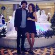 Jo-Wilfried Tsonga fête Noël avec sa compagne,  Noura El Swekh, enceinte de leur premier enfant. Photo postée sur Instagram en décembre 2016.